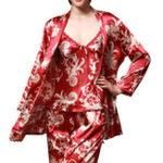 Оригинал 3шт. Печатная одежда Silk Lady Homewear Lingerie