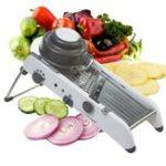 Оригинал МандолинаРегулируемаянержавеющаястальМногофункциональныйовощной резак Chopper Julienne Food Slicer