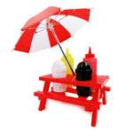 Оригинал HonanaТворческиебутылкисалатаСимпатичныемини-таблицы с зонтиком Cruet Set Салат Одевание Томатный соус Бутылка Spice Банка Соус Б