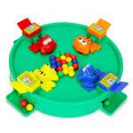 Оригинал Новинки Игрушки Сумасшедшая лягушка Ешьте фасоль для шара с бисером, кормящим детей