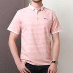 Оригинал Мужская100%хлопковаяполосаFitMoisture Wicking Polo Рубашка