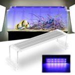 Оригинал 45CM 18W Сенсорный переключатель LED Аквариум Легкий клип Два режима Fish Tank Лампа Растение Grow Light 220V
