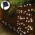 Оригинал 5M 20 LED Солнечная Power Snow Ball Fairy String Light На открытом воздухе Сад Лампа Рождественский праздничный декор