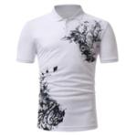 Оригинал МужскаяClassicЧернаябелаяпечатьс короткими рукавами POLO Рубашка