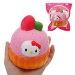 Оригинал Girls Cake Squishy 12 * 10CM медленно растет с подарком коллекции упаковки Soft Toy
