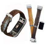 Оригинал Запасные кожаные наручные часы с пряжкой Стандарты Strap Horses Ремень для Fitbit Charge 2 Watch
