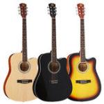 Оригинал 41 дюймов Деревянная акустическая фольга Classic Guitar Full Size 21 Frets Липа с Gig Сумка