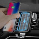 Оригинал Cafele 10W Fast Qi Беспроводная зарядка Gravity Auto Замок Авто Подставка для держателя для телефона Samsung S8 S7