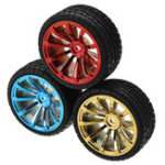 Оригинал Красный / Синий / Золотой цвет 65 мм Резиновые колеса Ttire для TT Мотор Smart Robot Accessories