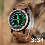 Оригинал BOBOBIRDP13УникальныйДизайнНочное видение LED Цифровые часы