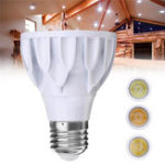 Оригинал E27 7W Dimmable Par 20 LED COB White Shell Spot Light Bulb Лампа для домашнего украшения AC110V