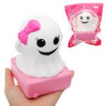 Оригинал YunXin Розовый Girl Ghost Кукла Squishy 4 * 9cm Медленное восхождение с подарком коллекции упаковки Soft Toy