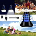 Оригинал ARILUX® USB E27 8W Два режима Белый + УФ фиолетовый LED Mosquito Insect Trap Killer Night Light Bulb DC5V