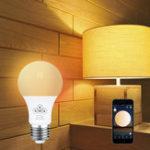 Оригинал E27 4.5W RGBW 350LM Управление синхронизацией Dimmable Bluetooth Сетка Smart Светодиодный Лампа AC100-264V