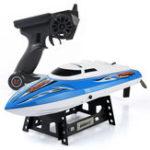 Оригинал UdiR/CUDI90243см 2.4G Rc Лодка 25 км / ч Максимальная скорость с системой водяного охлаждения 150 м Дистанционный Дистанционная игрушка