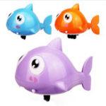 Оригинал Мультфильм Baby Bath игрушки Плавание животных рыбы Clockwork Wind-up игрушки Акула пластик Бассейн Ванна игрушки