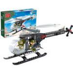 Оригинал BanBao Вертолет Plane Blocks Toys Образовательные строительные кирпичи Модельные игрушки