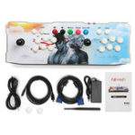 Оригинал 1760 in 1 Dual Player 1GB RAM 16GB ROM Android 5.1 Bluetooth 2.4G WIFI Arcade Game Console TV Коробка Мини-ПК с белой панелью
