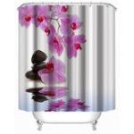 Оригинал ЦветокВодонепроницаемыПолиэфирнаятканьВаннаВанна Ванная комната Душевые занавески с крючками для домашних украшений