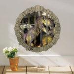Оригинал MiicoCreative3Dдинозаврвклетке ПВХ съемный домашний номер Декоративный настенный декор наклейки