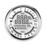 Оригинал 85 мм GPS Спидометр Масло Тахометр для измерения давления топлива с Антенна