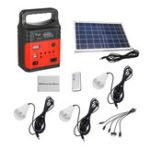 Оригинал 7500mAh Emergency LED MP3 FM Солнечная Панель Power Lighting Charging Powered System