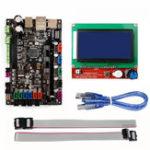Оригинал MK S SBASE V1.3 Контрольная панель материнской платы + RAMPS 1.4 12864 LCD Дисплей Экран для 3D-принтера