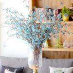 Оригинал ИскусственныевишневыецветыПоддельныецветышелк Peach Blossom Romantic Свадебное Цветы Букет украшений для нового дома Свадебное С