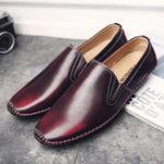 Оригинал МужчиныCasualComfyНатуральнаяКожаSlip On Flat Loafers