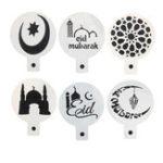 Оригинал 6PcsРамаданИдМубаракТематическийпирог с пирожными с пирожными Исламский праздник Дизайн тортов