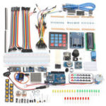 Оригинал Arduino Совместимые стартовые комплекты UNO R3 I2C 1602LCD Сервопривод Gas Датчик Stepper Relay