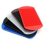 Оригинал 160 Grids Mini Multicolor Силиконовый Ice Cube Поддоны Шоколадная пресс-форма Кухонная посуда Винные гаджеты