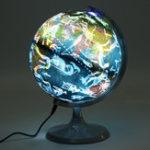 Оригинал 20cm High Definition Globe Earth Word Map Студенческое обучение Светящийся освещенный подарок для детей Star