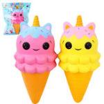 Оригинал Sanqi Elan Unicorn Ice Cream Squishy 20 * 9CM Медленный рост с подарком коллекции упаковки Soft Игрушка