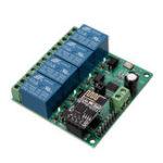 Оригинал DC12V ESP8266 Четырехканальный Wifi Реле IOT Smart Home Phone APP Дистанционное Управление Switch