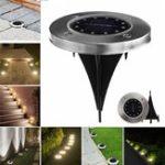 Оригинал Солнечная Powered 12 LED Похороненный свет под землей Лампа На открытом воздухе Путь Сад Декор