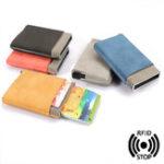 Оригинал МужчиныЖенскоеАвтоматическийвсплывающийалюминиевыйкошелек RFID Антимагнитный держатель кредитной карты