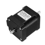 Оригинал Двойной вал Nema 17 Stepper Мотор 1.7A 0.55Nm Биполярный 4 Провода для DIY 3D Pinter CNC