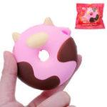 Оригинал Мультяшная корова-пончик-торт Squishy 8CM медленно растет с подарком коллекции упаковки Soft Toy