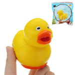 Оригинал Mini Yellow Duck Squishy 6.5 * 5.1 CM Медленный рост с подарком коллекции упаковки Soft Игрушка