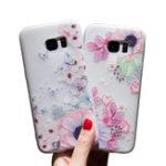 Оригинал Bakeey3DРельефнаяпечатьЦветочнаябабочка Soft Защитная Чехол для Samsung GalaxyS7Edge