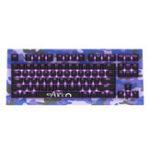 Оригинал Akko AKC87 CAMO 87 Key NKRO USB Проводной Фиолетовый Подсветка Механический Игры Клавиатура