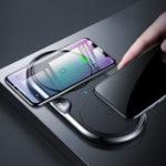 Оригинал Baseus 10W Dual Qi Беспроводная быстрозарядная база для зарядки цинкового сплава для iPhone X 8 Plus S8 S9 Mix 2s
