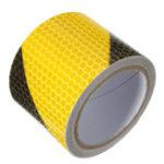 Оригинал 3M Желтая черная ночь Безопасность Светоотражающая лента Предупреждающая лента для пленки с наклейкой