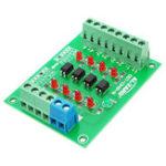 Оригинал 5Pcs 24V до 5V 4-канальная плата для изоляции оптопары Изолированный модуль уровня сигнала на плате уровня напряжения 4Bit