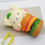 Оригинал Squishy Puppy Hamburger 4.6in 11.7cm Медленная розовая коллекция подарков из мультфильма Soft Игрушка