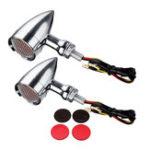 Оригинал 10мм Пуля Гриль LED Индикатор поворота указателя поворота Лампа Для Harley Измельчитель Боббер