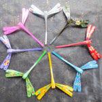 Оригинал Чистая рука Bamboo Dragonfly Colorful Украшение На открытом воздухе Семья Дети играют игрушки Интерактивная игрушка