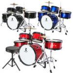 Оригинал Jeanpole Drum Набор Набор игрушечных музыкальных инструментов для детей Boy Junior Instruments