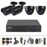 Оригинал TVI 4 Route 720P Million HD Инфракрасный набор для наблюдения 36 Light IP66 с 4 линиями видео питания